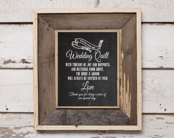 Please Sign Our Wedding Quilt on a Faux Chalkboard 8'x10' Digital, Printable, Wall Decor, Wedding Table Signs