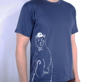 Bear and Bow Tie T-Shirt - Bear T-Shirt