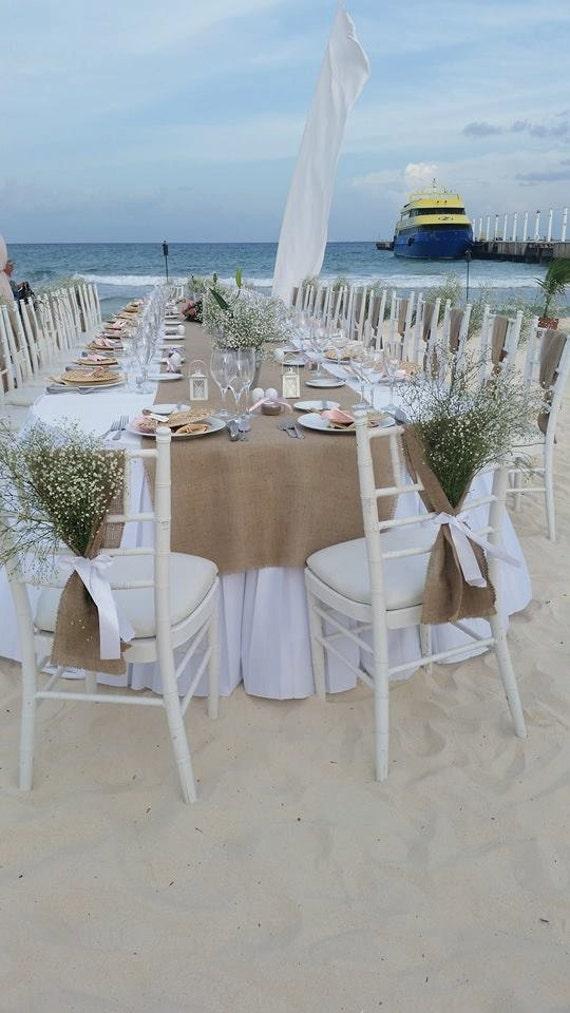 Burlap Chair Sash Burlap Wedding Decor