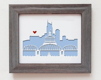 Nashville, TN. Personalized Gift or Wedding Gift
