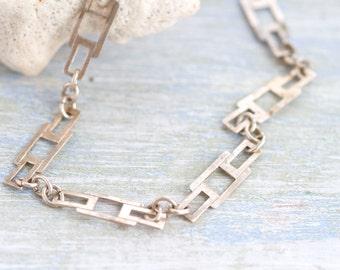 Geometric Links Vintage Bracelet