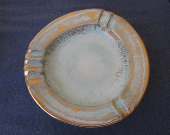 Stangl Ashtray, Stangl Pottery #5058, Antique Gold Finish