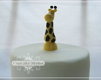 3-inch Gumpaste Giraffe Cake and Cupcake Topper by Cupcake Stylist on Etsy
