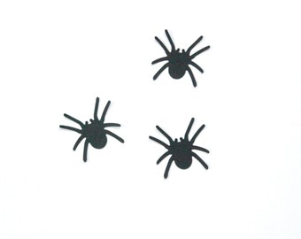 Black Spider Die Cuts, Halloween Table Decor, Spiderman Birthday, Party Supplies, Super Hero