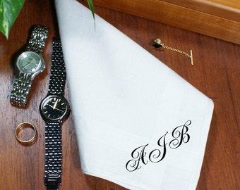 Any Initials Personalized Men's Handkerchief -gfy327276