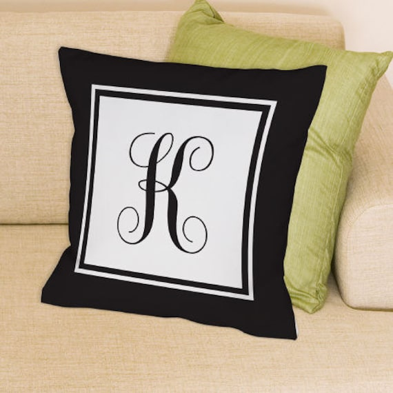 Monogram Throw Pillow Etsy : Items similar to Monogrammed Throw Pillow -gfy83062773WB14 on Etsy