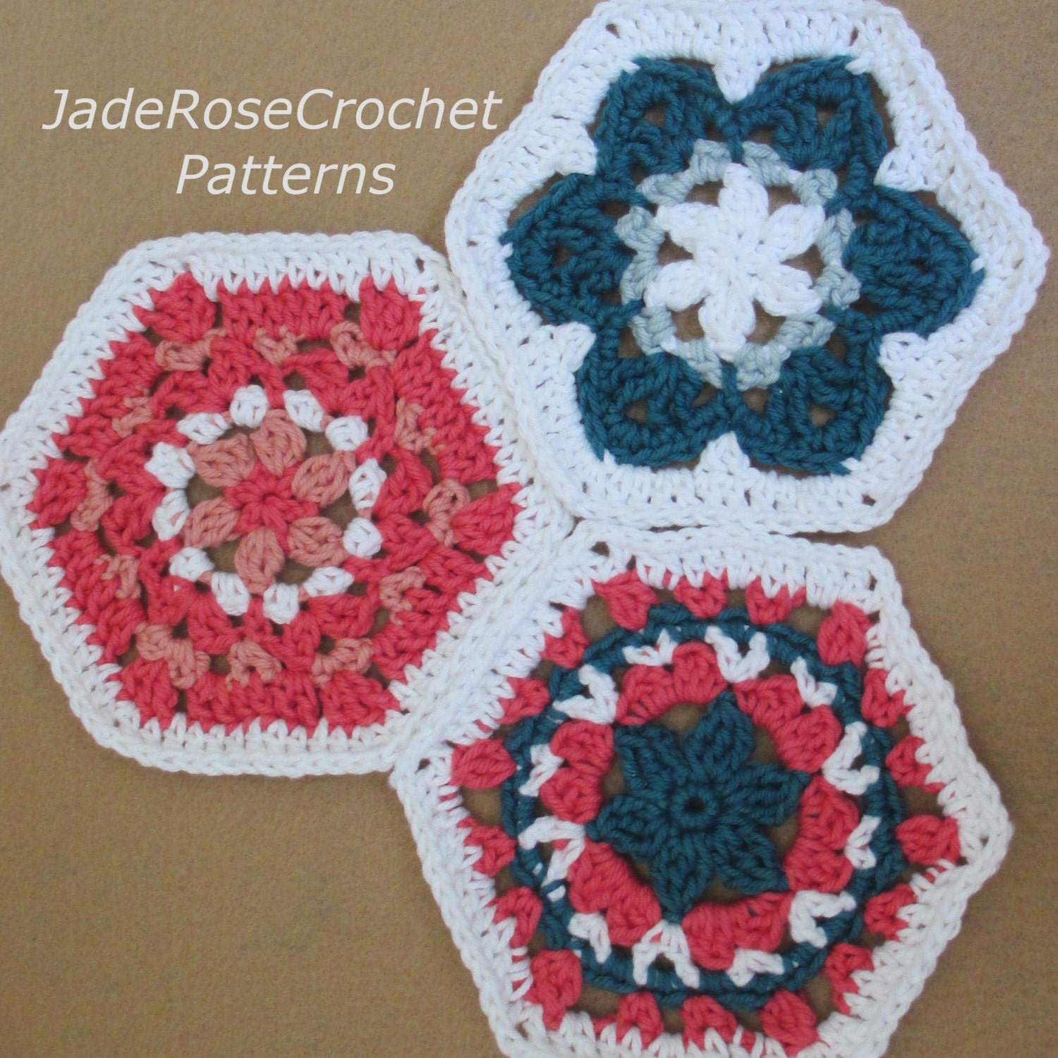 Crochet afghan hexagon pattern three variations pdf802 zoom bankloansurffo Image collections