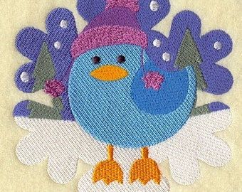 Bella Bird Snowflake Embroidered Flour Sack Hand/Dish Towel
