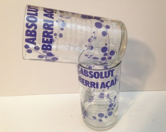 Absolut Vodka Berri Acai Recycled Glasses - 750 ml - Set of 2