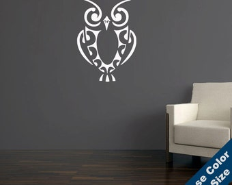 Retro Owl Wall Decal - Vinyl Sticker - Free Shipping