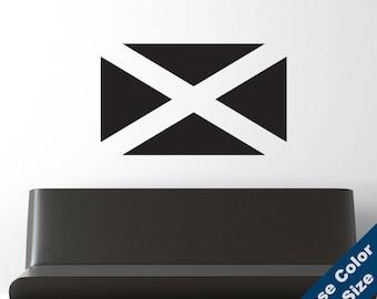 Scottish Flag Wall Decal - Vinyl Sticker - Free Shipping