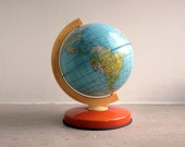 vintage metal tin chad valley globe - gennamaria