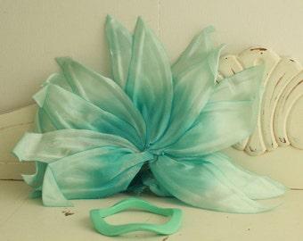 Vintage Millinery Supplies - Aqua Blue Ladies 1960's Hair Accessories/Bracelet - Ladies Millinery Petals in Aqua - Ladies Vintage Jewelry