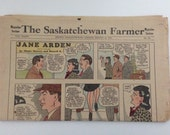 Vintage Newspaper 1943 The Saskatchewan Farmer Magazine Section Color Comics Serials Funnies Games Articles World War II Flash Gordon Tarzan