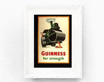 Guinness for Strength Print Original Advertisement Book Plate 8.25 x 11.5 inches Ireland Brewerania Advert Gilroy Illustration
