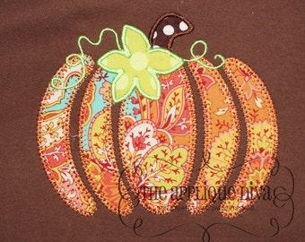 Fall Thanksgiving  Pumpkin Pieces Digital Embroidery Design Machine Applique