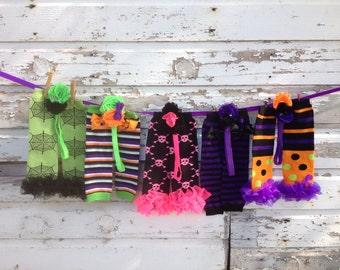 CUSTOM Halloween Leg Warmers with ruffles