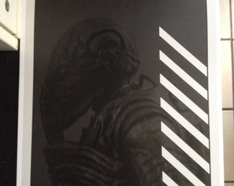 Prometheus movie poster print