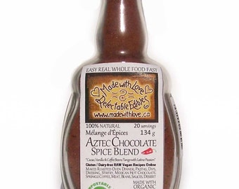 Decadent Aztec Chocolate 4.5oz Eco Artisan Spice Blend - for the conscious gourmet kitchen - Food Market - Herbs & Spices