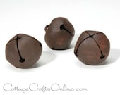 """Rusty Jingle Bell, 40 mm, 1 1/2"""", PACK of THREE, Darice Craft - Christmas Rusted Bell, Primitive, Rustic Decor, Embellishment"""