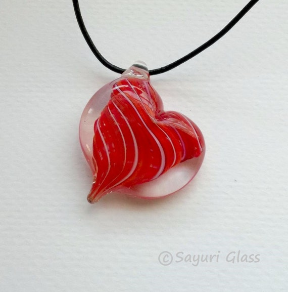 Glass Heart  Pendant 4 :DISASTER RELIEF