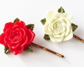 Alice In Wonderland Painting the Roses Red Bobby Pins