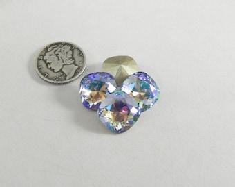 1 Swarovski Provence Lavender Shimmer 4470 12mm Stone