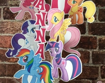 My Little Pony Printable Centerpiece without NAME and AGE