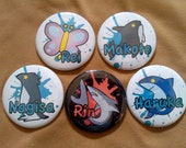 Free! Iwatobi Swim Club Button Set of Five