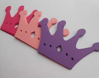 50 Crowns. 2 x 3.25 inch. CHOOSE YOUR COLORS. Princess Party, Tea Parties, Birthdays, Weddings, Favor, Gift. Purple, Pink.