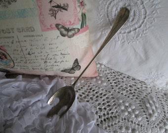 Silver meat fork vintage silverplate serving fork Holiday table Thanksgiving turkey fork Fine dining