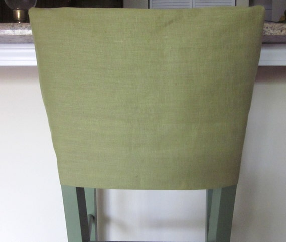 Chair Slipcover Or Cap Linen Chair Back Cover By