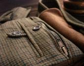 Hobbit belt bag - Bilbo Baggins bag - Green brown pocket belt - Vintage belt bag - Fantasy inspired - J.R.R. Tolkien