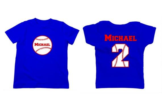 Personalized baseball shirt with front and back for Custom baseball shirts no minimum