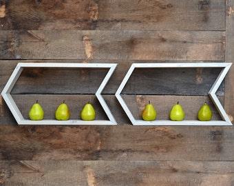 Geometric Shelf - Shelves - Shelving - Arrow Shelf  - Modern shelf - Wall Shelf - Minimalist Shelves