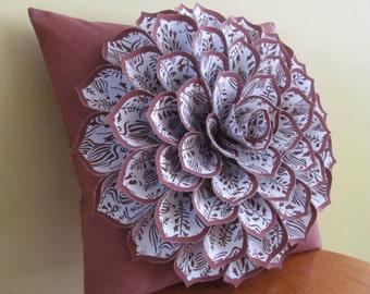 Decorative Pillow Flower Pillow Pattern SOPHIA FLOWER Felt Flower Pillow Pattern with 2 Bonus Pillow Cover Patterns Tutorial PDF ePattern