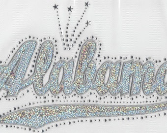 Alabama Sequins and Rhinestone Transfer Applique ONLY
