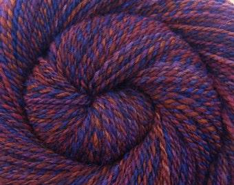 Handspun Yarn - CROWN JEWELS - Handpainted Shetland wool, 2 ply Worsted weight, 268 yards