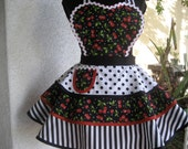Black Cherry Womens Full Apron