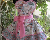Retro China Dolls of Another Century Womens Apron