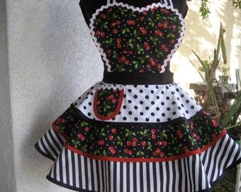 Black Cherry Womens Full Apron