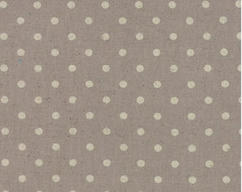 Linen Mochi dot putty color from Moda fabric 32910 22