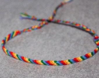 LGBT gay lesbian pride friendship bracelet super thin 1
