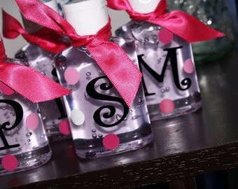 Set of 10 - Small Hand Sanitizers Personalized for Shower, Party, or Gift Giving