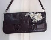 Handbag womens bag ladies purse handbag sequins, beaded bag small handbag ladies accessories handbag Modified purse womans Brown handbag .