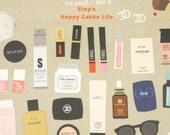 Make-Up - Suatelier Stickers - Paper Deco Sticker - 1 Sheet