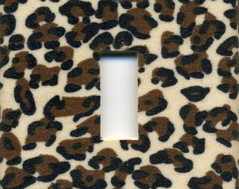Cheetah Animal Print Single Light Switch Plate
