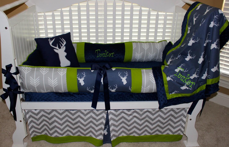 Custom Baby Bedding 6 Pc Set Woodland Deer Forest Lodge