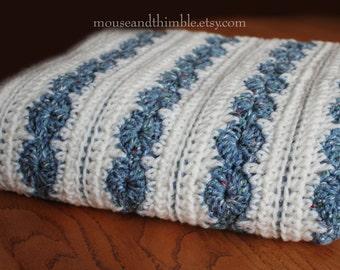 Large Baby Blanket Wheels & Stripes - Crochet PATTERN w/ multiple  - PDF 4436