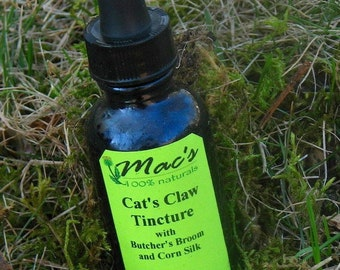Mac's Natural Cat's Claw Tincture with Butcher's Broom and Corn Silk, Chemical Free